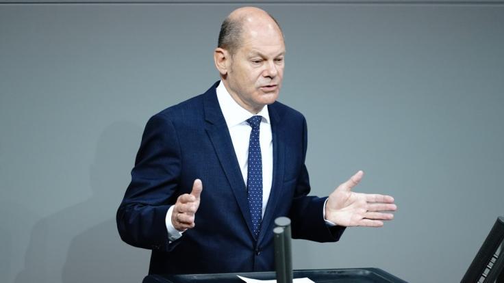 Olaf Scholz ruderte nach seiner unbedachten Aussage zurück. (Foto)