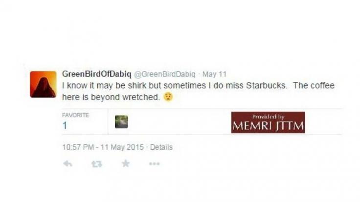 Ohne Koffein geht nichts: GreenBirdOfDabiq sehnt sich ins Starbucks.