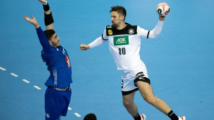 Fabian Wiede trifft gegen Frankreich.