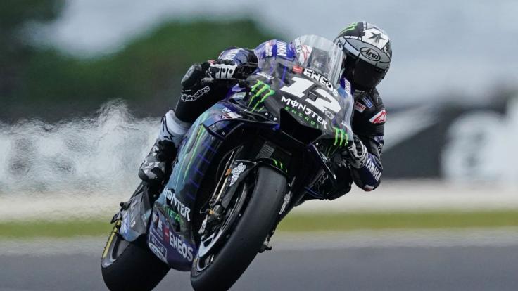 MaverickViñales musste beim MotoGP-Rennen in Spielberg von seiner Maschine springen. (Foto)