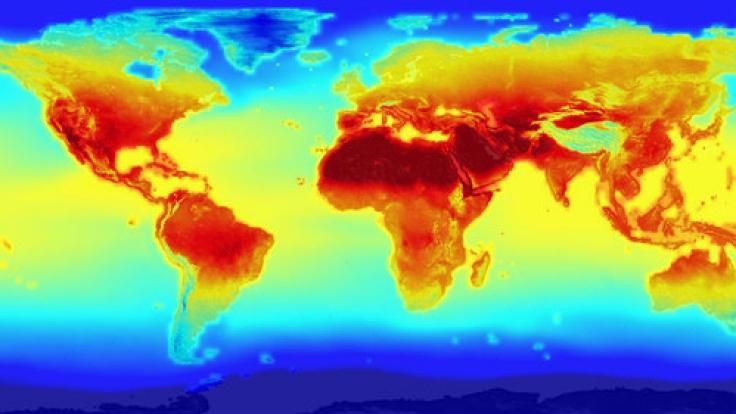 Die Welt-Klimakarte im Jahr 2100.