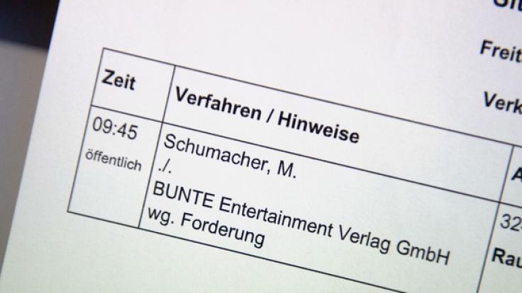 """Die Zeitschrift """"Bunte"""" hatte im Dezember 2015 berichtet, Schumacher könne drei Jahre nach seinem schweren Skiunfall in den französischen Alpen wieder gehen. (Foto)"""