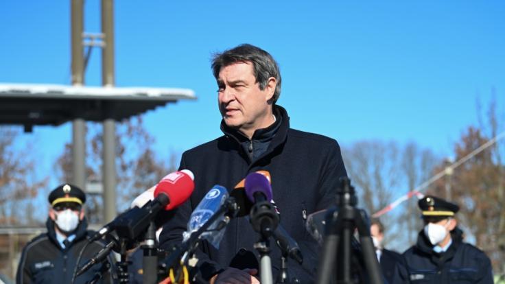 Der bayerische Ministerpräsident Söder verteidigte Corona-Grenzkontrollen (Foto)