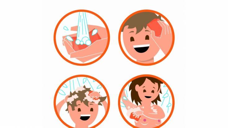Die Anwendung vom Duschbrocken ist kinderleicht. (Foto)