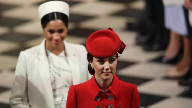 Meghan Markle und Kate Middleton nahmen an einem Gottesdienst zum Commonwealth Day in der Westminster Abbey teil. (Foto)