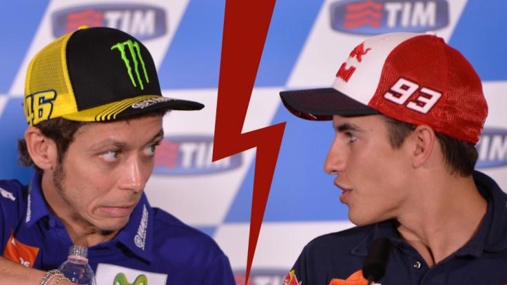 Das Duell Rossi vs. Márquez hat die Motorsport-Welt gespalten. (Foto)