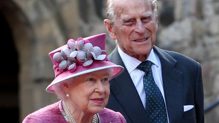 Queen Elizabeth II. und ihr Mann Prinz Philip.