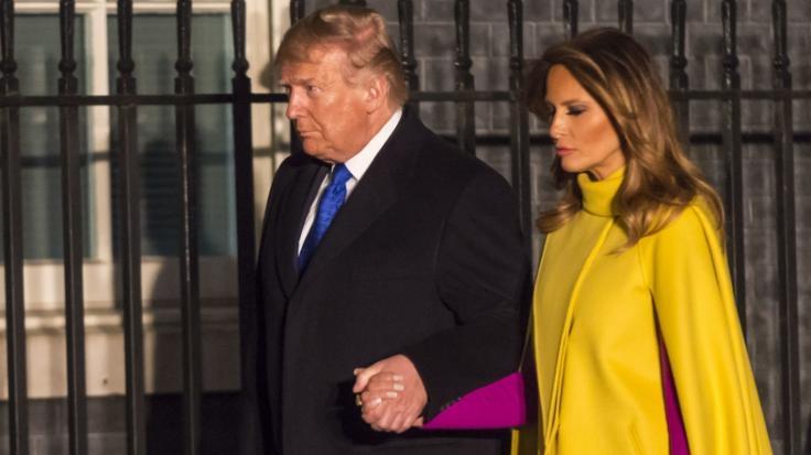 Donald und Melania Trump nächtigen offenbar getrennt voneinander. (Foto)