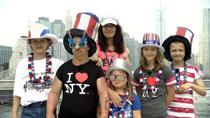 Familie Liebisch schnuppert amerikanische Luft.