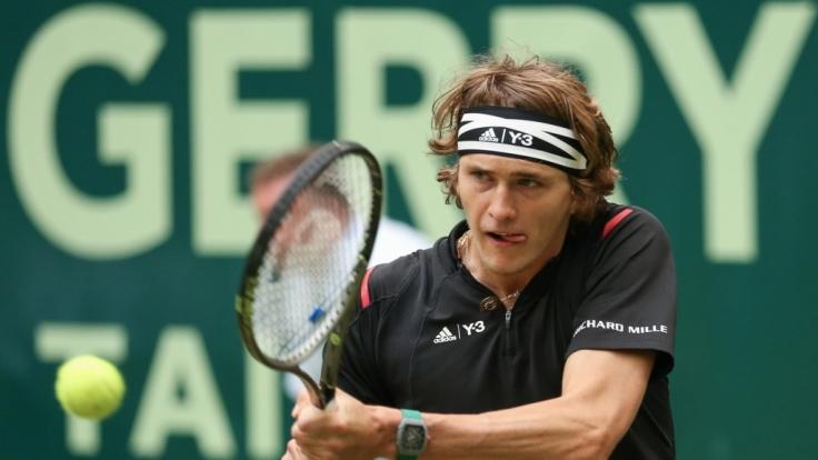 Alexander Zverev steht beim ATP-Turnier in Halle im Halbfinale. (Foto)