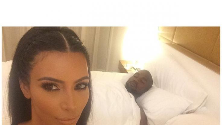 Kim Kardashian und Kanye West (Foto)