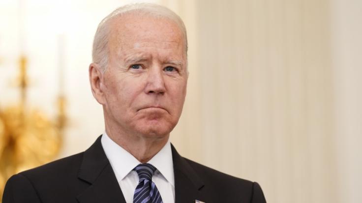 Was hatte US-Präsident Joe Biden da zu flüstern? (Foto)