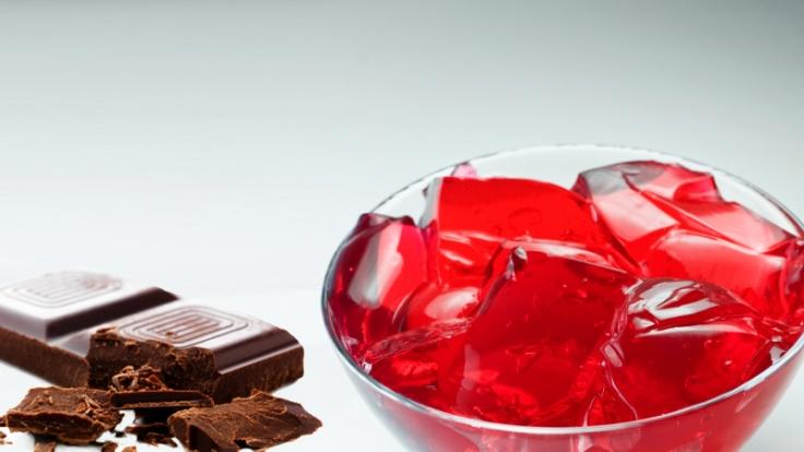 Schokolade und Wackelpudding (Foto)