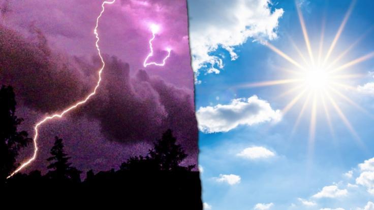 Am Wochenende droht Deutschland Hitze und Unwetter zugleich.