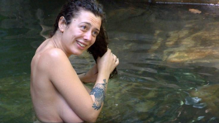 Leila Lowfire zog im Dschungelcamp zuerst blank. (Foto)