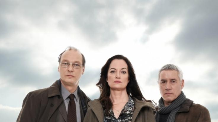 Das Ermittler-Team: Arne Brauner (Martin Brambach, l.), Jana Winter (Natalia Wörner, M.) und Matthias Hamm (Ralph Herforth, r.).