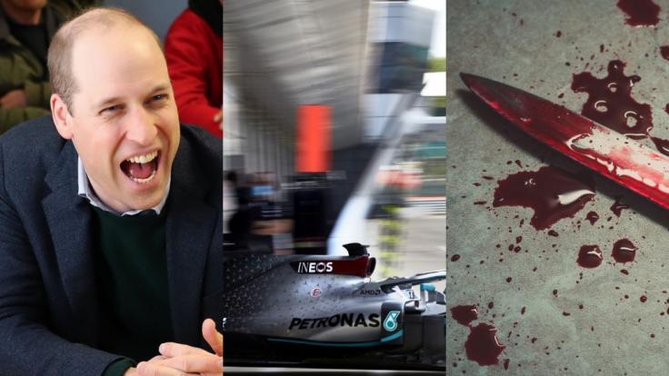 Die News des Tages am 21.06.2020 zu Prinz William, Formel-1-Aus im deutschen Free-TV und Messer-Attacke in England. (Foto)
