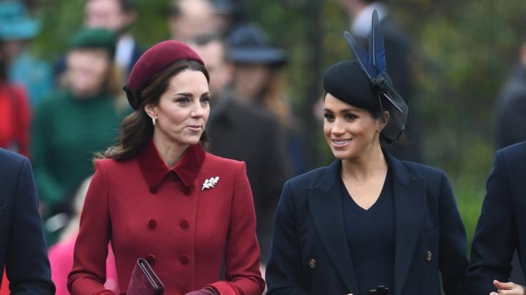 War der harmonische Weihnacht-Auftritt von Kate Middleton und Herzogin Meghan von Sussex inSandringham nur Show? (Foto)