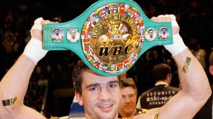 Markus Beyer nach seinem K.o.-Sieg gegen Alberto Colajanni im Jahr 2006.