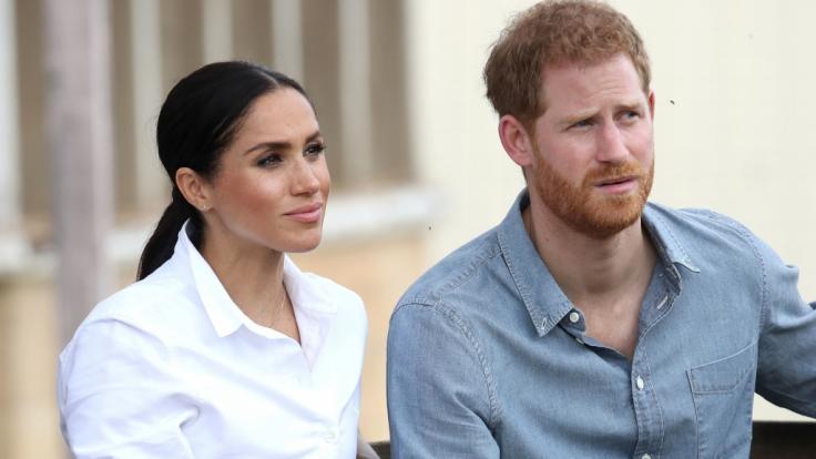 Meghan Markle und Prinz Harry sollten der Geburt ihres ersten Kindes entspannt entgegenblicken - doch stattdessen tut sich an mehreren Fronten Stress auf. (Foto)