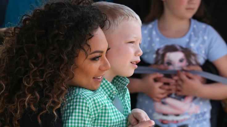 Lilly Becker (42) mit ihrem Sohn Amadeus (8).