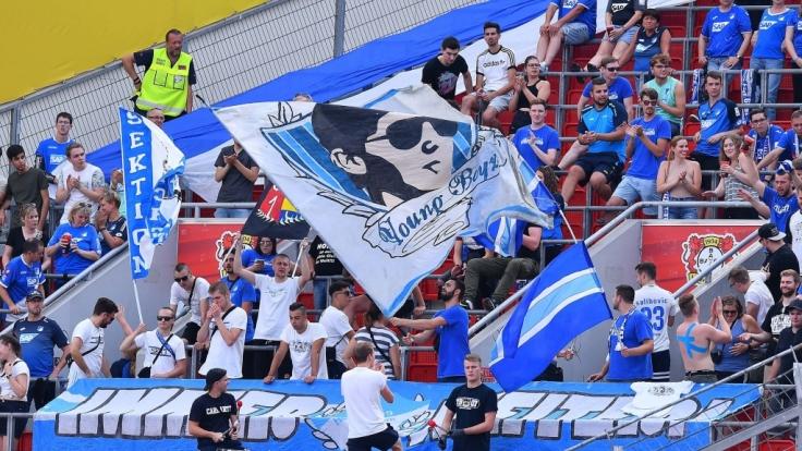 Für TSG 1899 Hoffenheim zeigen die Fans vollen Einsatz. (Symbolbild)