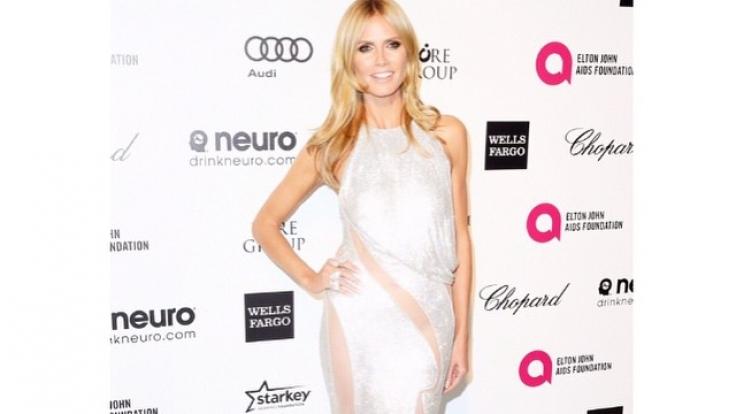 Heidi Klum hatte sich für ein gewagtes Kleid zur Oscar-Party bei Elton John entschieden. (Foto)