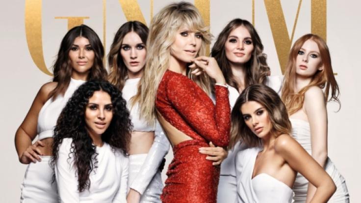 GNTM ab 4. Februar 2021 jeden Donnerstag um 20.15 Uhr auf ProSieben und Joyn: Heidi Klum und ihre Topmodel-Anwärterinnen der 16. Staffel (Foto)