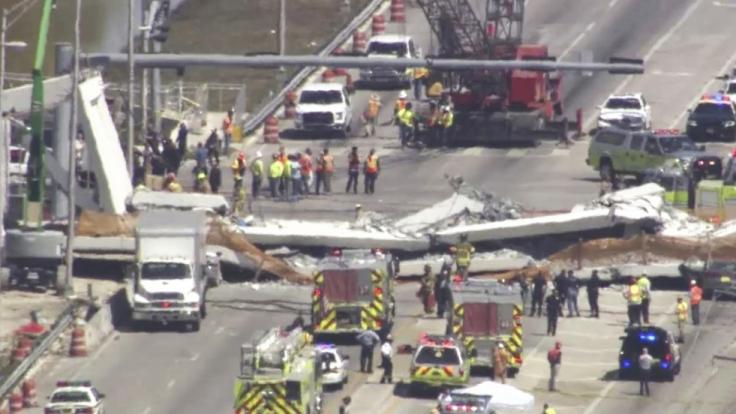 Beim Einsturz einer Fußgängerbrücke wurden in Miami zahlreiche Menschen verletzt und getötet. (Foto)