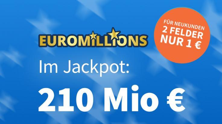 EuroMillions am 26.02.2021: Rekord! Am Freitag sind 210 Millionen Euro im Pot – Jetzt 6 € Rabatt sichern!