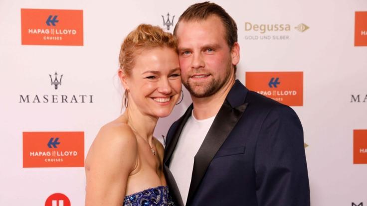 """Rhea Harder-Vennewald mit ihrem Mann Jörg Vennewald beim """"Movie meets Media""""-Event in Hamburg 2017. (Foto)"""
