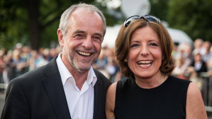 Malu Dreyer mit ihrem Ehemann Klaus Jensen bei der Premiere der Nibelungen-Festspiele 2016. (Foto)