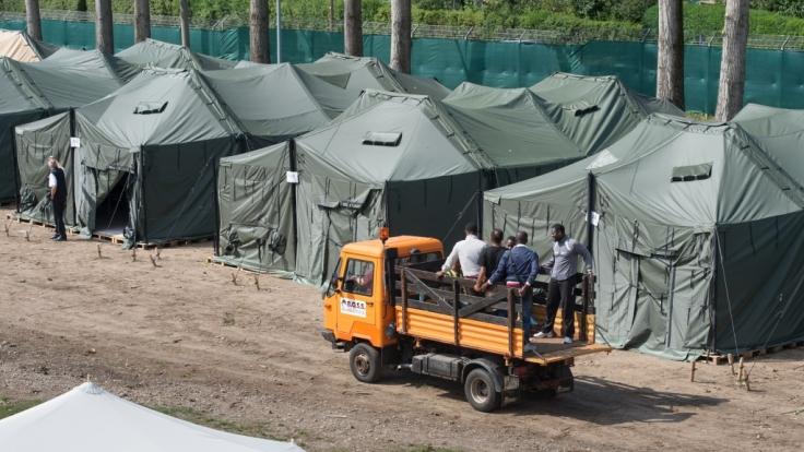Zeltstadt für Flüchtlinge.