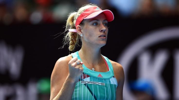 Angelique Kerber im Halbfinale der Australien Open. (Foto)