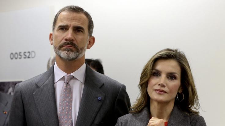 König Felipe mit seiner Ehefrau Königin Letizia von Spanien.