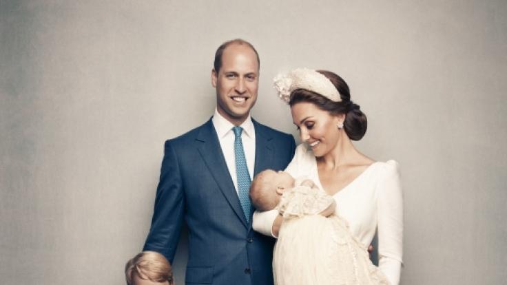 Zuckersüß! Die britischen Royal feiern in diesem Jahr erstmals zu viert Weihnachten.