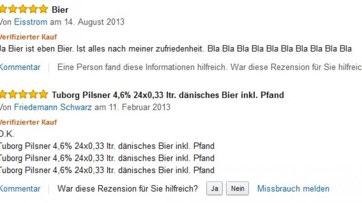 """""""Eisstrom"""" hält seine Bewertung des Tuborg Pilsner eher wortkarg. (Foto)"""