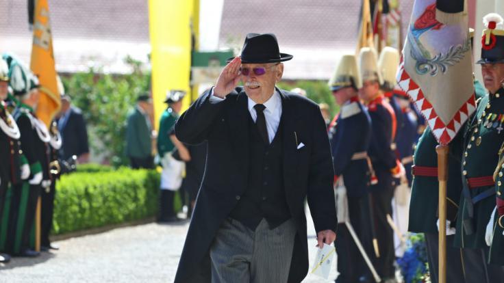 Markgraf Max von Baden besuchte ebenfalls die Trauerfeier. (Foto)