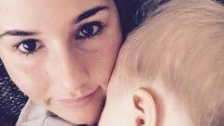 Sarah Lombardi mit ihrem Sohn Alessio.