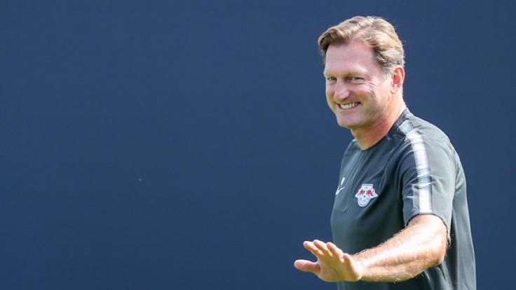 Cheftrainer Ralph Hasenhüttl des RB Leipzig. (Foto)