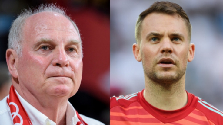 Uli Hoeneß nimmt seinen Torhüter Manuel Neuer in Schutz und teilt heftig gegen den DFB, Jogi Löw und Ter Stegen aus.