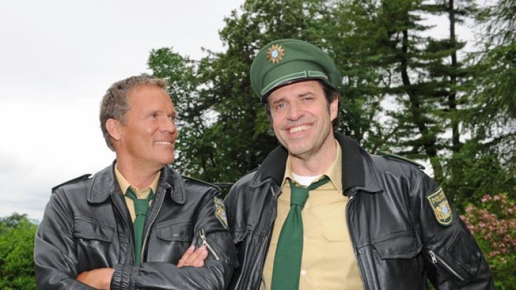 Die Schauspieler Christian Tramitz (l) und Helfried von Lüttichau sind
