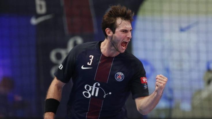 Uwe Gensheimer am 16.10.2016 im EHF Champions League Handballspiel zwischen Paris Saint Germain und SG Flensburg Handewitt im Stade Coubertin in Paris.