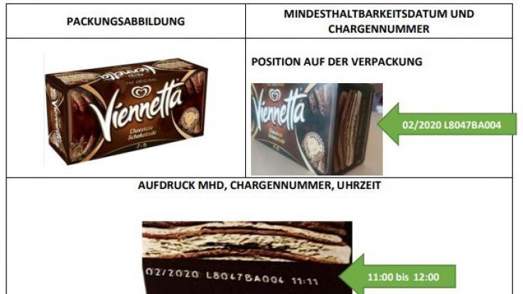 In einer Pressemitteilung erklärt Unilever, wo Verbraucher Mindesthaltbarkeitsdatum und Chargennummer finden.