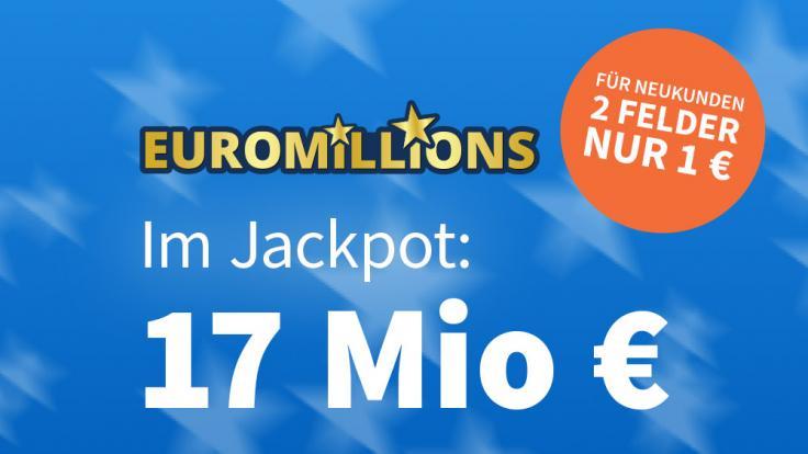 Am Freitag liegen 17 Mio. Euro im Jackpot bei EuroMillions