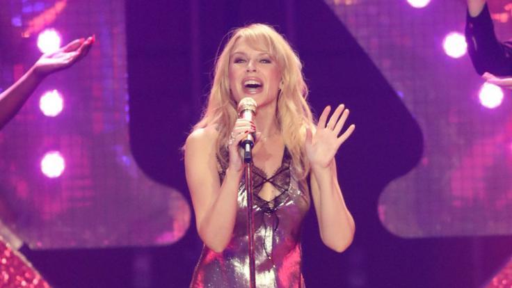 """Kylie Minogue präsentiert auf ihrer """"Golden""""-Tour Hits ihrer 30-jährigen Gesangskarriere. (Foto)"""