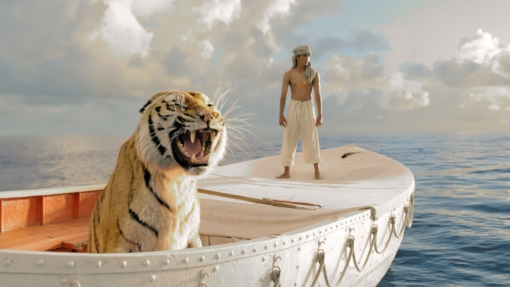 Pi strandet mit einem Tiger auf einem Rettungsboot. (Foto)