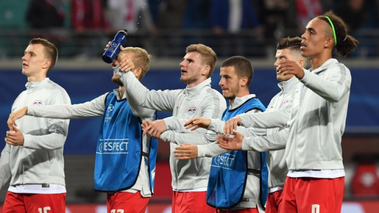 RB Leipzig kann sich freuen, der Champions-League-Neuling siegte erstmals.