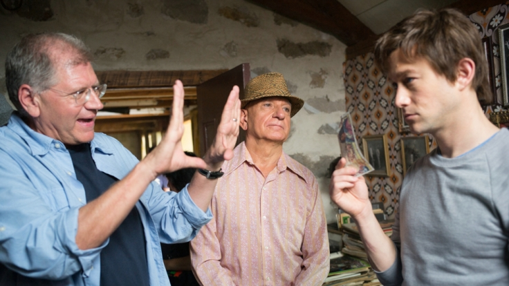 Robert Zemeckis teilt seine Vision am Set mit Joseph Gordon-Levitt und Ben Kingsley. (Foto)