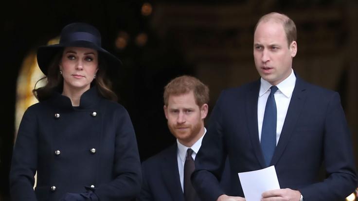 Kann Herzogin Kate zwischen den zerstrittenen Brüdern Prinz William und Prinz Harry vermitteln? (Foto)